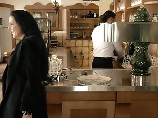 Black Stockings Texas Patti Gets Ravaged On The Table