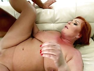 Crimson Haired Cougar Tammy Jean Gets Her Pink Hole Fucked By Youthfull Horny Paramour