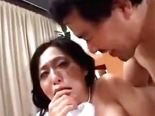 Perverted Asian Wifey Gets Her Mouth And Her Cooter Slammed With
