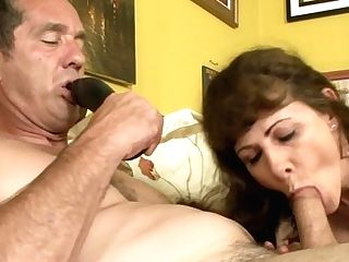 Dark Haired Alexandera Silk Shows Her Love For Implement Sucking
