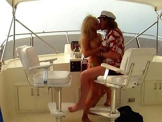 Big Racked Blonde-haired Cougar Stormy Daniels Loses Her Swimsuit To