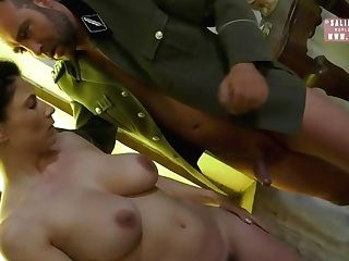 Huge-boobed Dark-haired, Roberta Gemma Is Sucking Trouser Snake As If She Was A Real Pro And Luving It