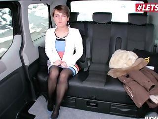 Letsdoeit - Hot Ukrainian Mummy Fucks Hard In The Backseat Of A Czech Cab