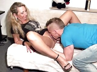 German Mom Let Friend Of Daughter-in-law Fuck Her Butt First-ever Time