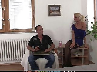 Youthful Dude Rear End-fucks His Hot Blonde Wifey For Money