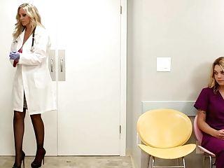 Big Tit Mummy Medic Julia Ann Fucks Her Fresh Nurse With Big Naturals Gabi