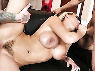 Zealous Huge-chested Blonde Nymphomaniac Kenzie Taylor Gets Pounded By Two Studs (fmm)