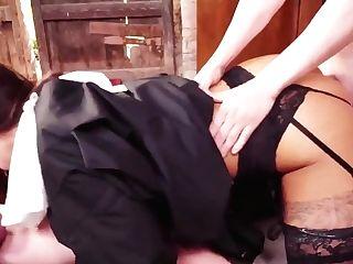 Latina Nun Threesome