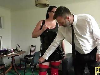 Tied Up Sub Jaws Fucked