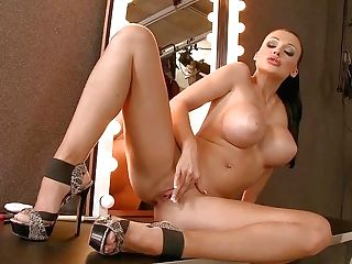 Stunning Aletta Ocean With Monster Faux Tits Spreads Her Gams