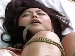 Awesome Japanese Tart Gets Tied And Toyed