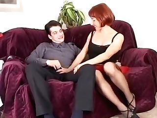 Skinny Euro Cougar Gets Her Assfucked Hard