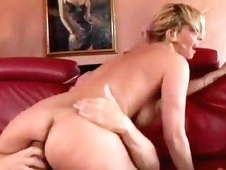 Hot Blonde Wifey Goes Down On His Pecker And Gets On To Rail It