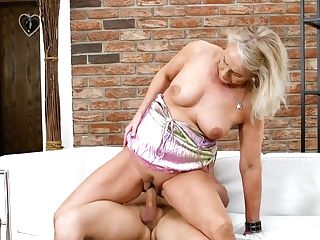 Nasty Stepaunt Koko Entices Youthfull Cousin And Ducks His Hard Dick