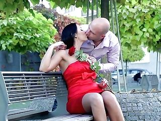 Bodacious Black-haired In Crimson Sundress Rebeka Is Having Hump On The Very First Date