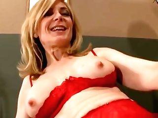 Good-looking Blonde Mom Nina Hartley In Amazing Stockings
