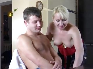 Hot Blonde Cougar Ottilia Turns Youthful Banger With Oral Pleasure