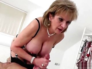 Adulterous English Matures Lady Sonia Shows Off Her Massive Balloons