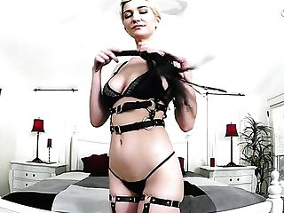 Fairly Buxom Brief Haired Blonde Skye Blue Finishes Up With Bj To Rail Pink Cigar