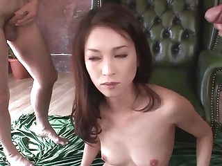 Sweet Mei Naomi Concludes Massive Trio With Jism On Face - More At Slurpjp Com