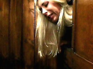 Dissolute Blonde Chick Victoria Fucks A Horny Priest