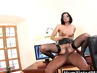 Humiliatedmilfs  Shes So Dedicated That She Lets Her Chief Fuck Her Bootie