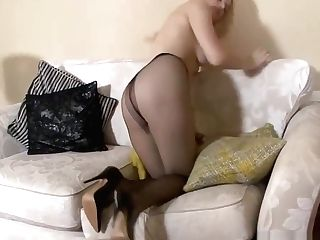 Solo Joy With Blonde In Pantyhose