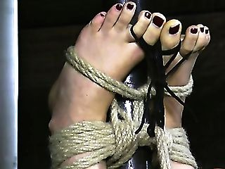 Huge-chested Bombshell Dvixen Is Laying Tied In Some Dangeon Well-prepped To Be Tormented By Her Mistress