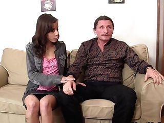 Czech Nubile Entices Old Duo Into Threesome