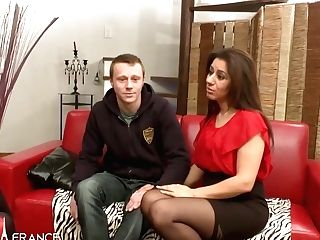 Nadia Casting Couch Of Smallish Titted Arab Cougar