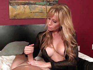 Bigtits Mommy Wanks My Hard Man-meat In Couch
