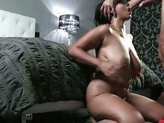 Huge-chested Latina Sexpot Emori Pleezer Likes Nothing But Railing Dick