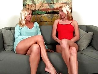 Cougar And Nubile Jerking Off Lucky Boy - Point Of View