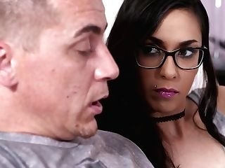 Fresh, Teenage Black-haired, Ashley Ocean Got Fucked In Front Of The Camera, Just For Joy