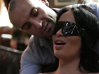 Latina Sexy Sweetie From France Anissa Kate Rails Dick While Being Blinded