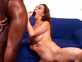Big Tits Brown-haired Cougar Sucking Big Dong Interracial