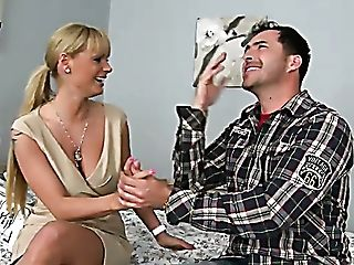 Horny Mommy Shelia Grant Turns A Hot Dude On With Her Big Tits