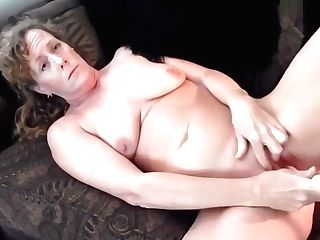 Couch Solo And Supah Orgasm Granny Vanessa
