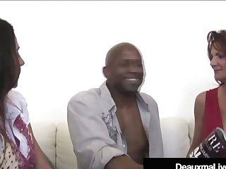 Texas Cougar Deauxma & Colombian Ariella Ferrera Fuck A Big Black Cock!