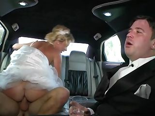 Cheating In The Limo With Cougar Bride Stepphanie